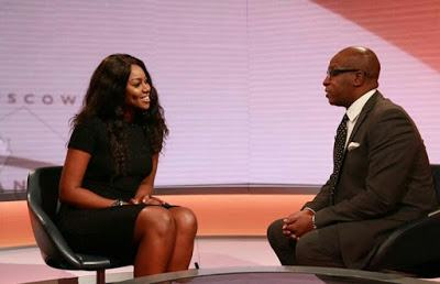 Yvonne Nelson appears on BBC live show