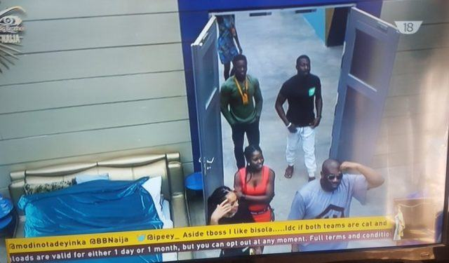 Don Jazzy and DNA twins visits the BBNaija housemates