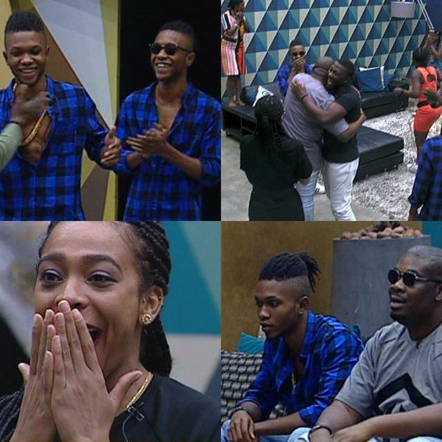 Don Jazzy and DNA twins visits the housemates