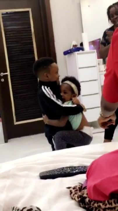 Imade Visits P-Square's Home