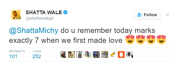 Shatta Wale and wife celebrate their 7th love making anniversary