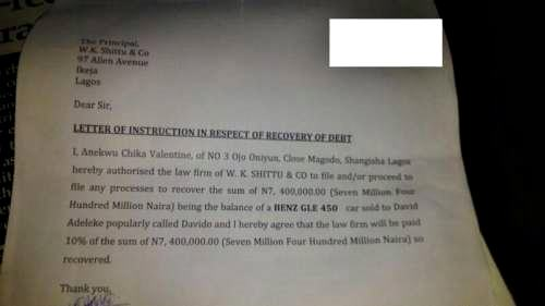 Davido In Dud Cheque matter