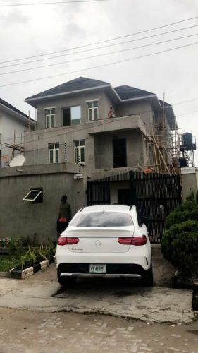 Davido Shows Off The Progress Of His House Renovation in Lekki