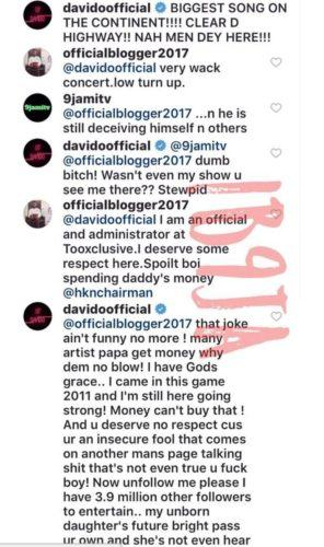 Davido fires Rude Follower