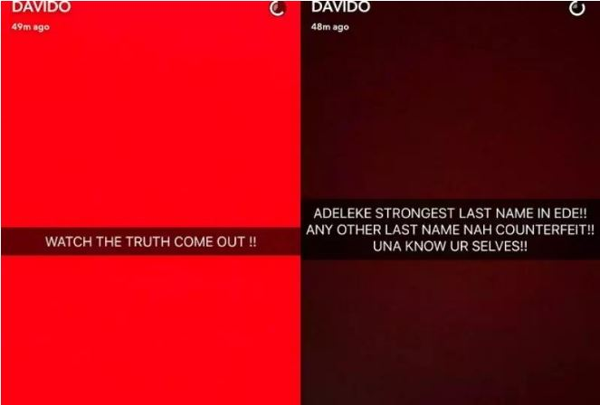 Davido rants as he insinuates his uncle was killed