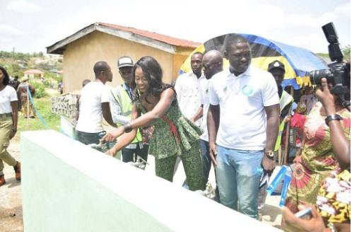 Debie-Rise visits Kogi, commissions new borehole