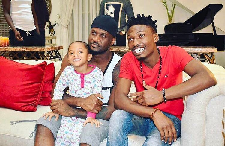 Efe Visits Peter Okoye and Family
