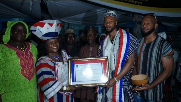 Flavour is conferred chieftaincy title in Liberia