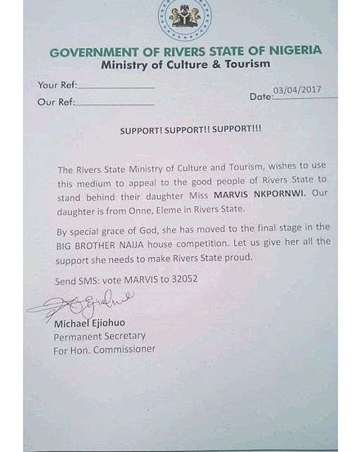 Rivers State Government Formally Announces Support For Marvis