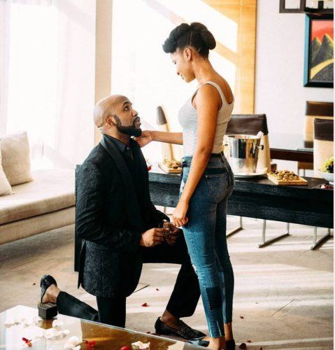 Banky W and Adesua Etomi are Engaged