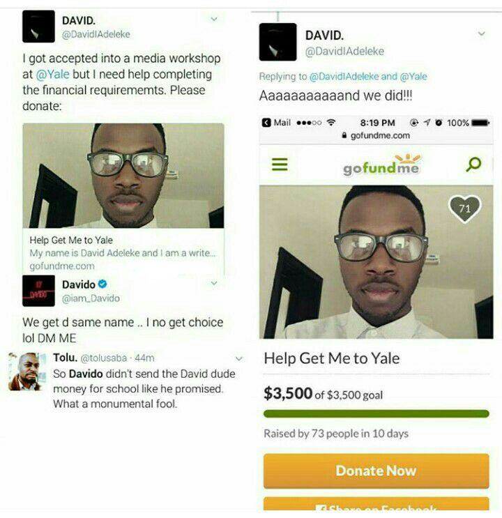 Davido fails to fulfil his promise to a fan