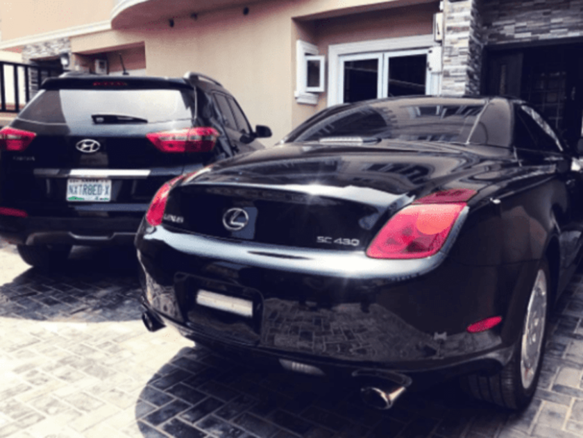 Reekado Banks Acquires Lexus SC430 Convertible Automobile
