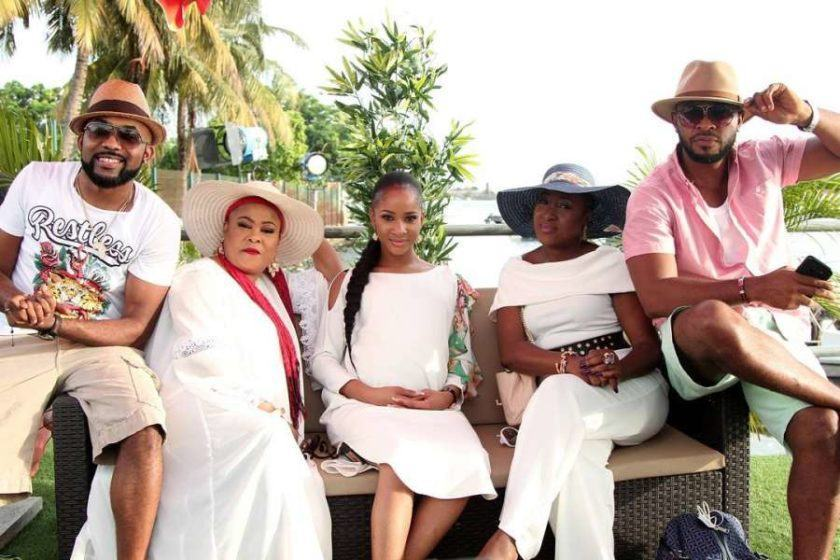 Sola Sobowale sends beautiful message to Banky W and Adesua Etomi