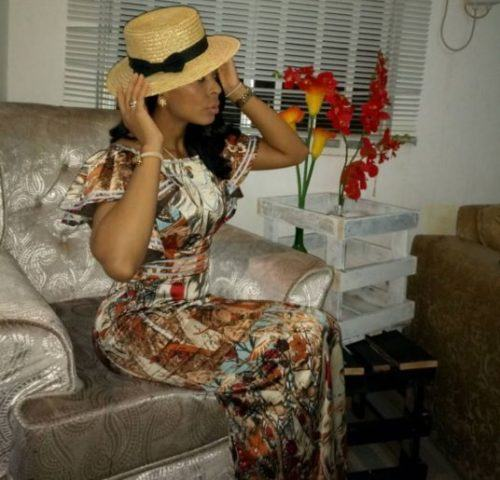 TBoss Looks Glamorous In Floral Dress