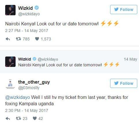 Wizkid Reveals He Will Be Doing Two More Free Shows In Uganda