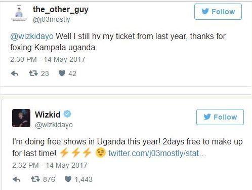 Wizkid Reveals He Will Be Doing Two More Free Shows