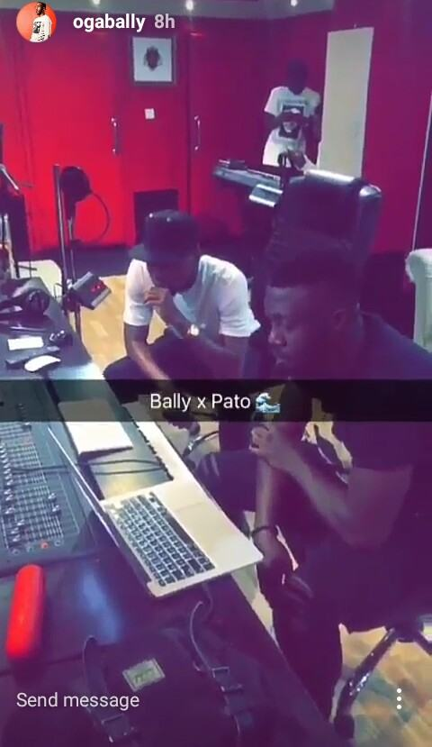 Bally and Patoranking in the studio