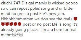 Marvis Receives Death Threats After Failing to Promote Efe's New Single