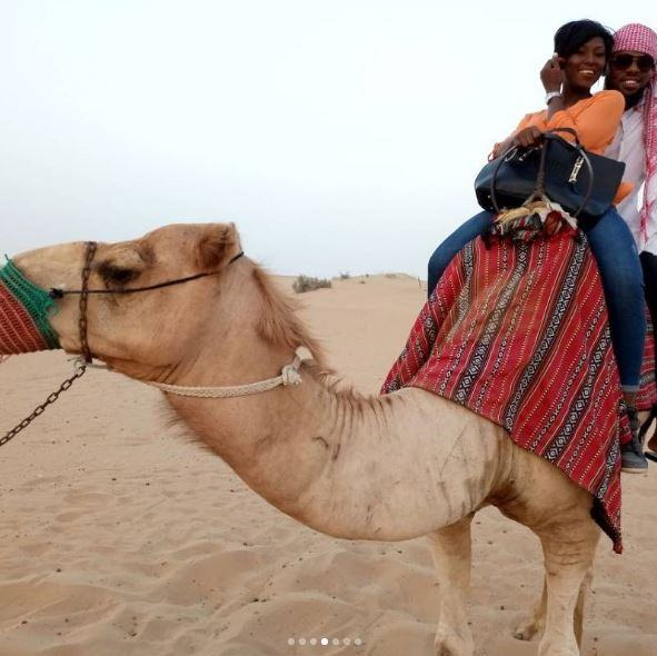 Debie and Melvin Camel Riding