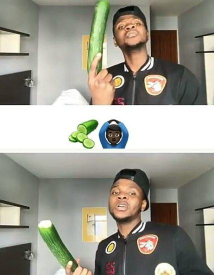 Kiss Daniel Shows His Big Cucumber
