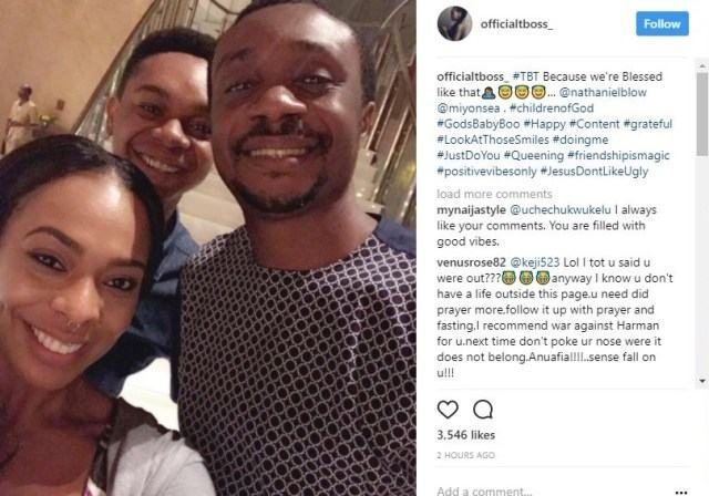 TBoss Shares Selfie With Nathaniel