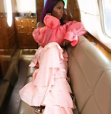 Tiwa Savage In Eye Candy Photo Aboard A Private Jet