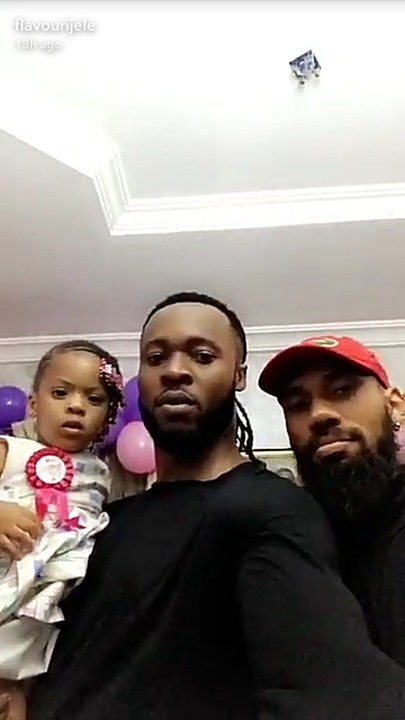 Phyno and Flavour at Anna Banner's daughter's birthday party