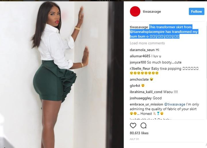 Tiwa Savage's post