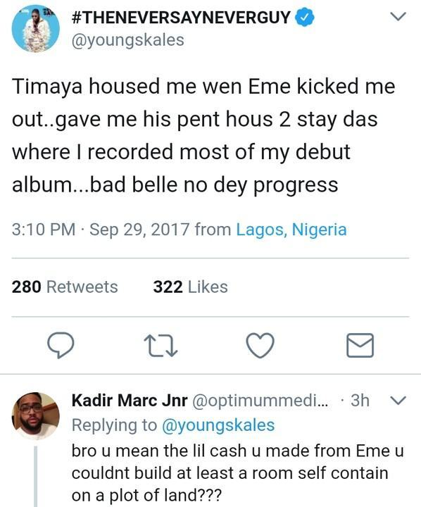 Skales Narrates How Timaya Accommodated Him When He Was Kicked Out Of EME