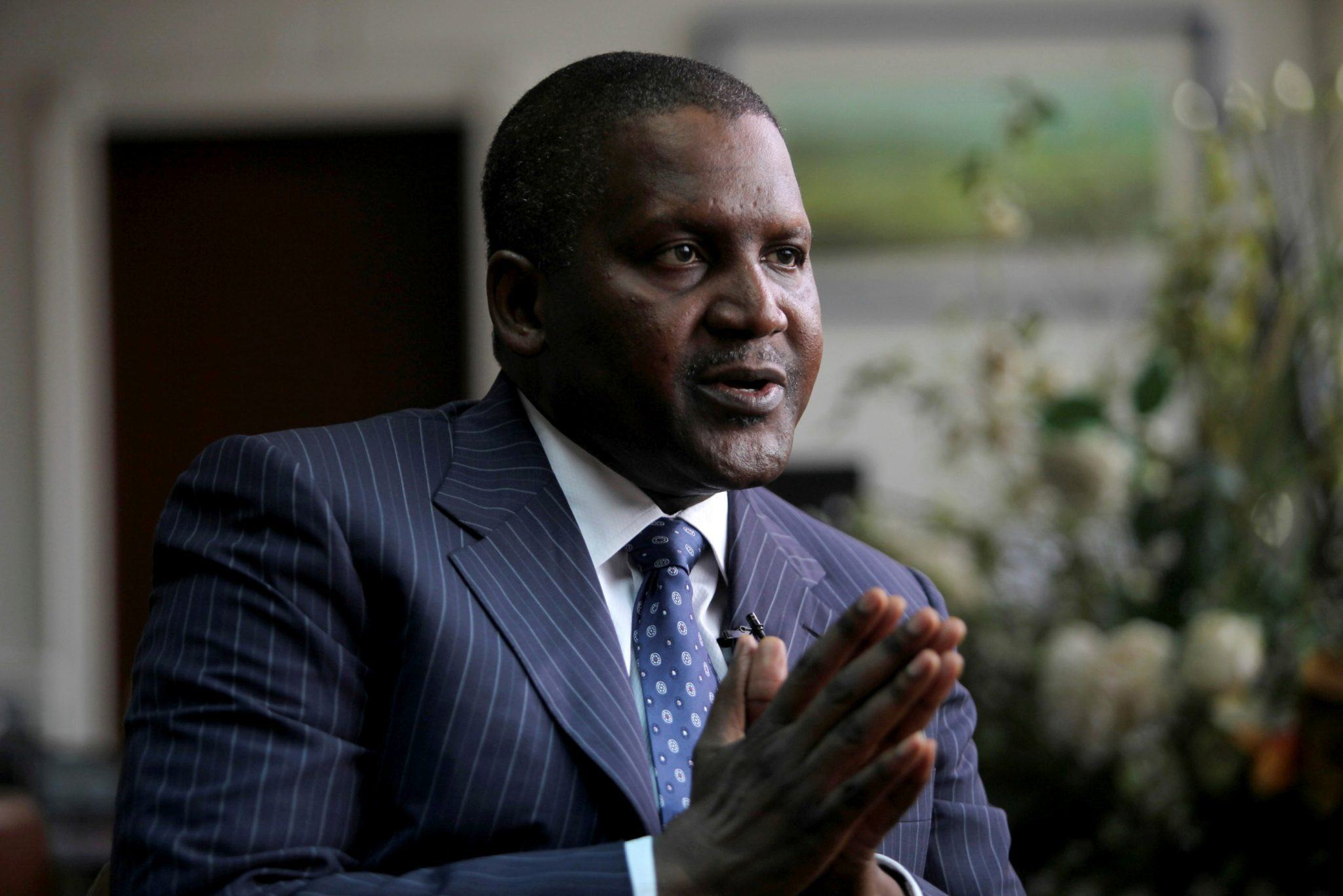 Founder and Chief Executive of the Dangote Group, Aliko Dangote