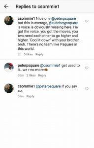 peters reply