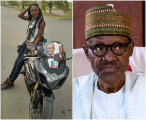 pretty lady and buhari