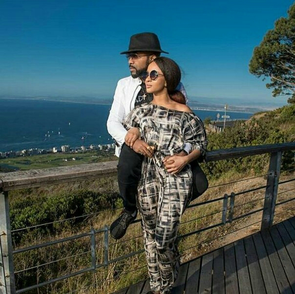 Banky W & Adesua Etomi in South Africa