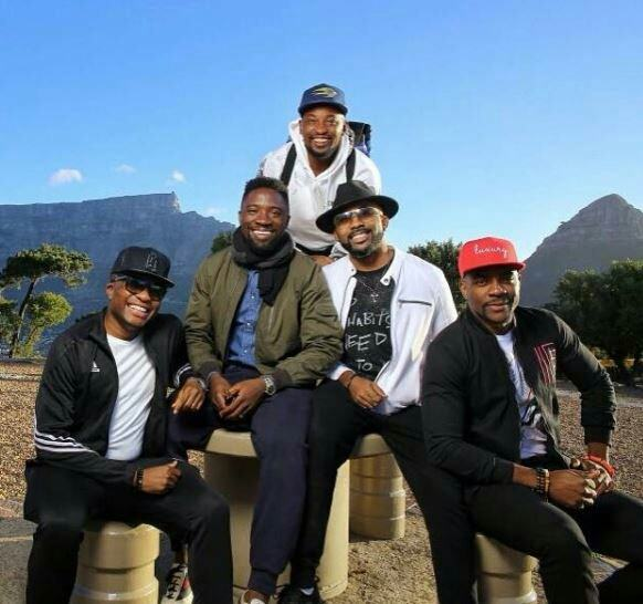 Banky W Tour South Africa with friends