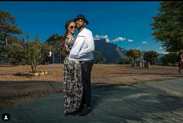 Banky W and Adesua Etomi in South Africa