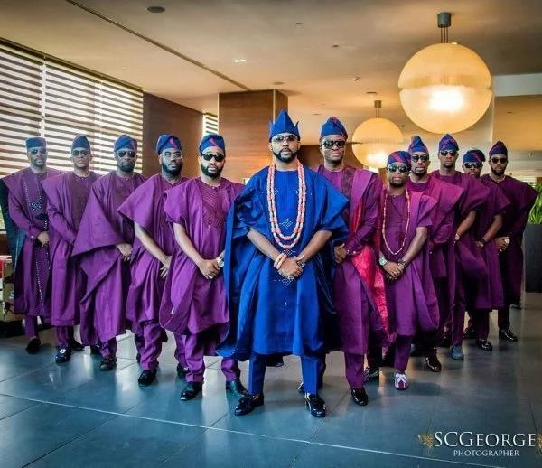 Banky W and his groomsmen