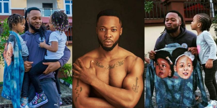 Flavour and his daughters