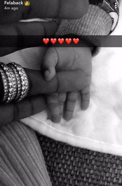 Wizkid Posts A Photo Of His Baby With His Manager Jada Pollock