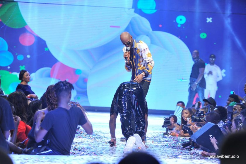Davido Prostrates To 2face On Stage