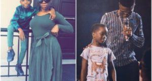 Shola Ogudu Excited After Wizkid Brought Their Son On Stage