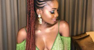Simi dazzles in green jumpsuit