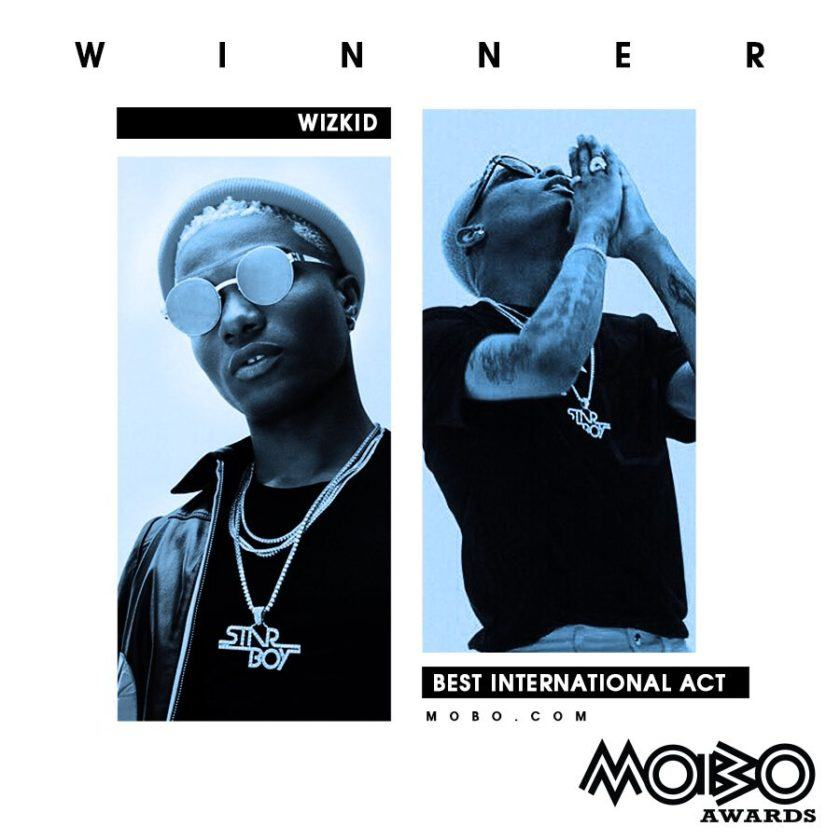 Wizkid Wins Best International Act at 2017 MOBO Awards