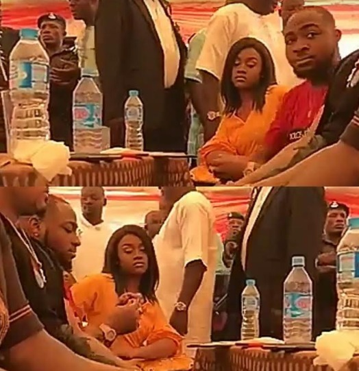 Davido And Chioma Spotted At A Family Event