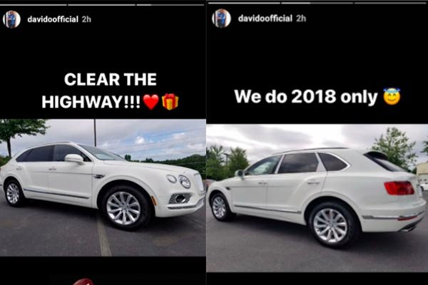 Davido Flaunts Bentley Car He Just Purchased For Himself
