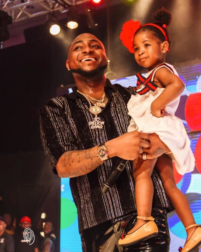 Davido on stage with Imade