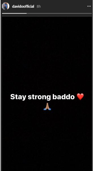Davido post to olamide