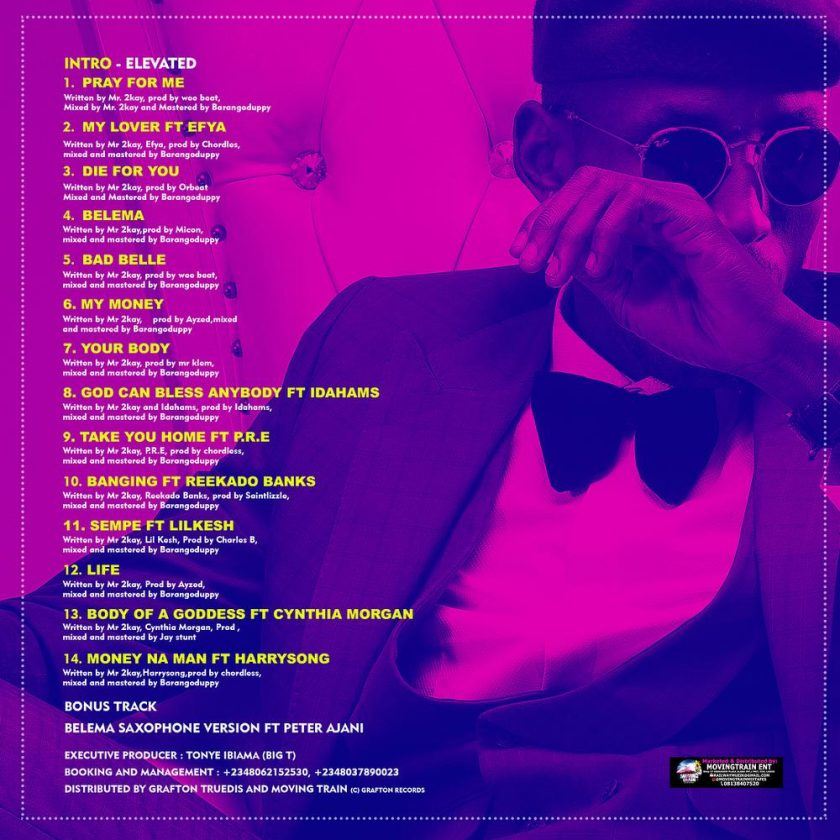 Mr 2Kay - Elevated Album tracklist