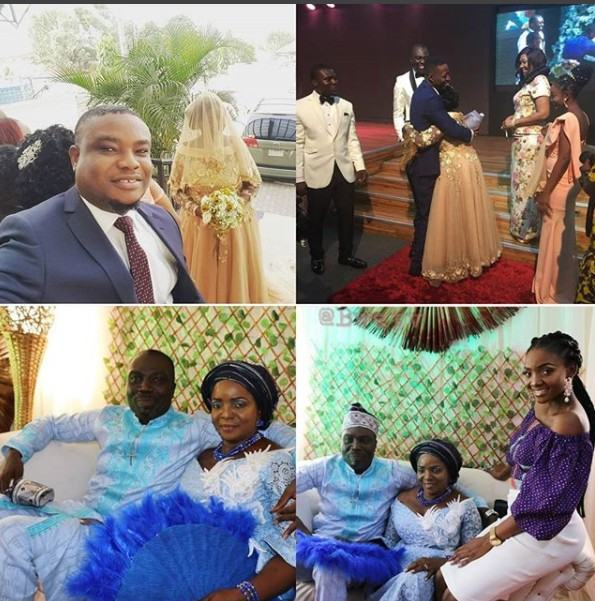 Simi is the bridesmaid as her mum remarries