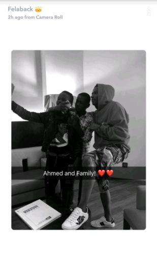 Wizkid Spends Time With His New 10-Year-Old Signee