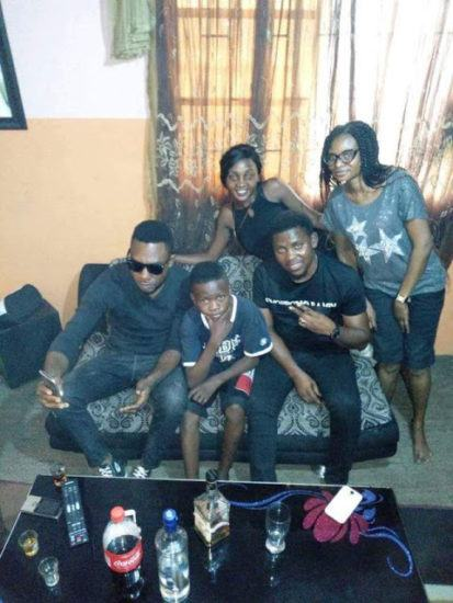 Wizkid's New Signee, Ahmed Celebrates With Family And Friends